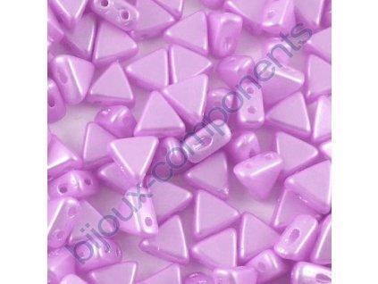 Kheops par Puca, Pastel Light Lila Rose, 6x6x6mm, 12ks