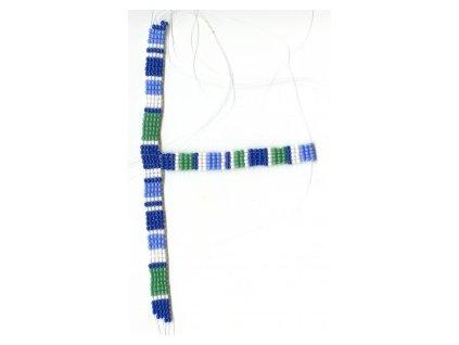 Korálkový pásek navlečený na silonu, cca 10x160x90mm