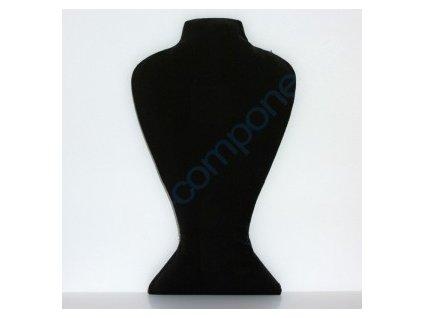 sametový bižuterní krk, 36x21cm, černý