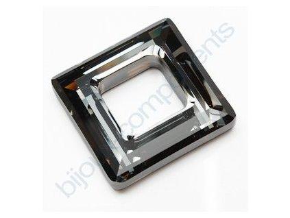Swarovski tvarovka - čtverec, crystal silver night, 20mm