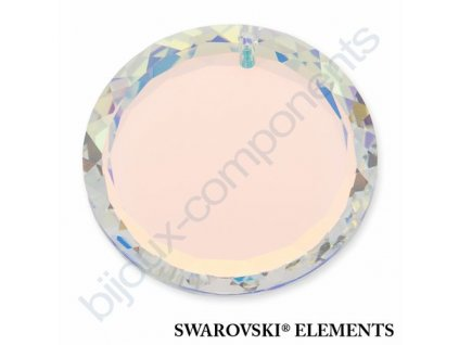 SWAROVSKI ELEMENTS přívěsek - disk, crystal AB, 30mm