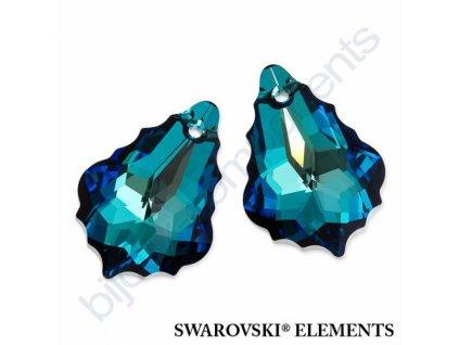SWAROVSKI ELEMENTS barokní přívěsek, crystal bermuda blue, 22x15mm