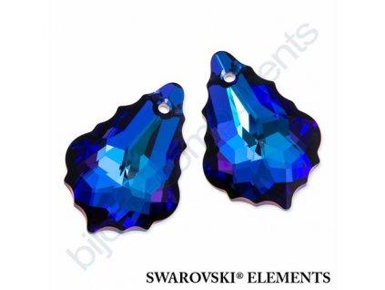 SWAROVSKI ELEMENTS barokní přívěsek, crystal helio, 22x15mm