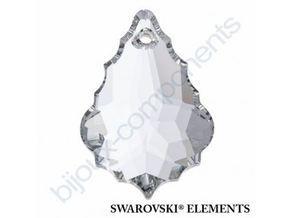 SWAROVSKI ELEMENTS přívěsek - Flat Baroque, crystal CAL V, 38mm