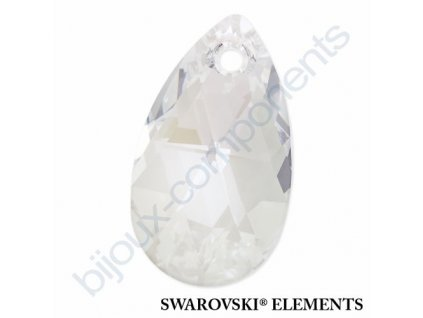 SWAROVSKI ELEMENTS přívěsek - hruška, crystal moonlight, 22mm