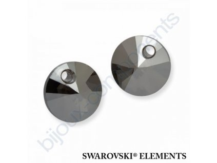 SWAROVSKI ELEMENTS přívěsek - XILION, crystal metalic silver 2x, 8mm