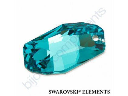 SWAROVSKI ELEMENTS přívěsek - Meteor, light turquoise, 28mm