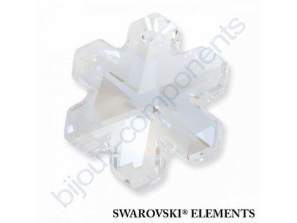 SWAROVSKI ELEMENTS přívěsek - sněhová vločka, crystal moonlight, 20mm