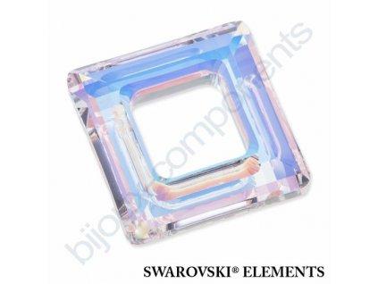 SWAROVSKI ELEMENTS tvarovka - čtverec, crystal AB, 14mm