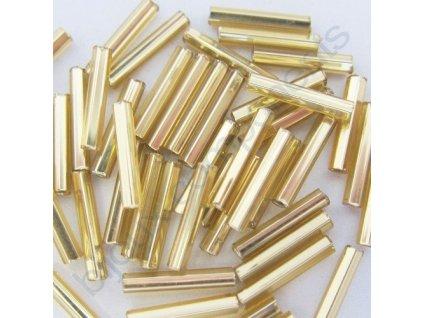 PRECIOSA Skleněné tyčinky hladké - světle zlaté