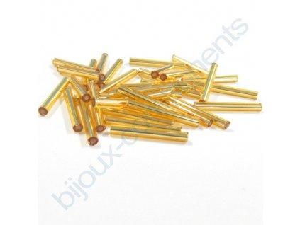 PRECIOSA Skleněné tyčinky hladké - zlatá
