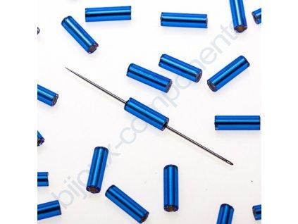 Skleněné tyčinky hladké - modré