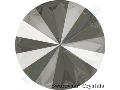 SWAROVSKI CRYSTALS rivoli - crystal dark grey, 12mm