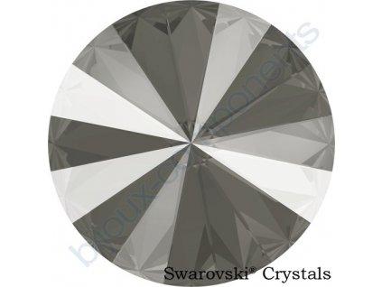 SWAROVSKI CRYSTALS rivoli - crystal dark grey, 12mm