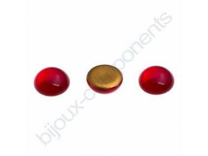 Kabošon kulatý, cca 10mm, červený