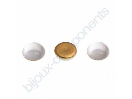 Kabošon kulatý, cca 12mm, krystalový