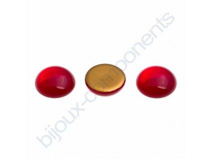 Kabošon kulatý, cca 18mm, červený