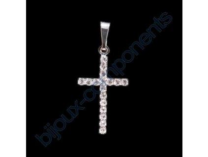 Kříž štrasový, cca 27mm
