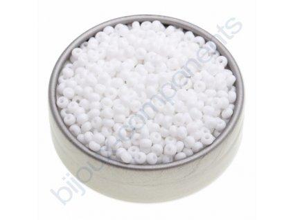 PRECIOSA rokajl - bílý, 11/0 cca 2mm