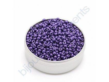 PRECIOSA rokajl - metalický fialový, 6/0 cca 4mm