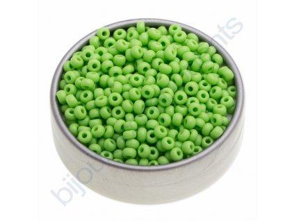 PRECIOSA rokajl - hráškově zelený, 9/0 cca 2,6mm