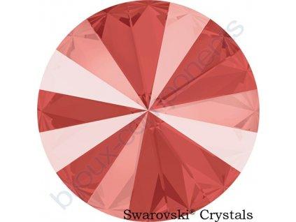 SWAROVSKI CRYSTALS kameny - Rivoli Chaton, crystal light coral, 12mm