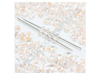PRECIOSA Twin™ - crystal,broskvový průtah