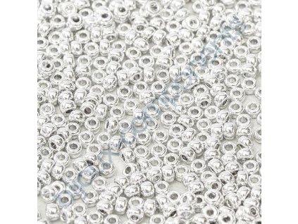 Miyuki Round, Silver, vel.1,6 mm, průtah 0,8 mm