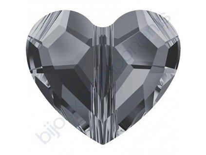 SWAROVSKI CRYSTALS Love Bead - korálek, crystal silvernight 2x, 12mm
