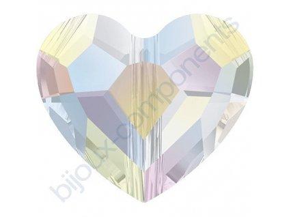 SWAROVSKI CRYSTALS Love Bead - korálek, crystal AB, 8mm