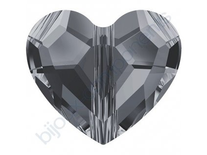 SWAROVSKI CRYSTALS Love Bead - korálek, crystal silvernight 2x, 8mm