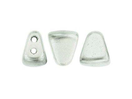 Matubo NIB-BIT, matte metallic silver, 6x5 mm, 5 g