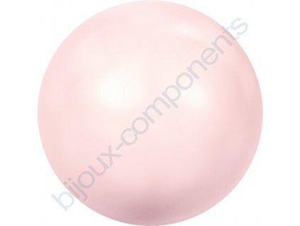 SWAROVSKI CRYSTALS voskované půldírové perle, rosaline, 6mm