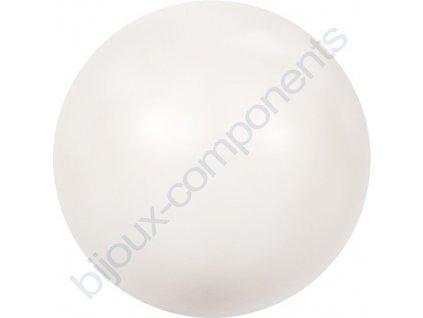 SWAROVSKI CRYSTALS voskované půldírové perle, bílé, 6mm