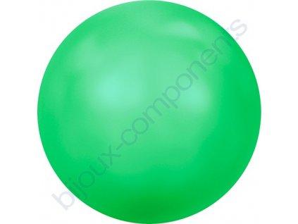SWAROVSKI CRYSTALS voskované půldírové perle, neonově zelené, 8mm