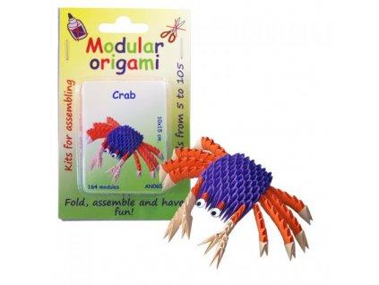 Origami sada - Krab, cca 10x15cm