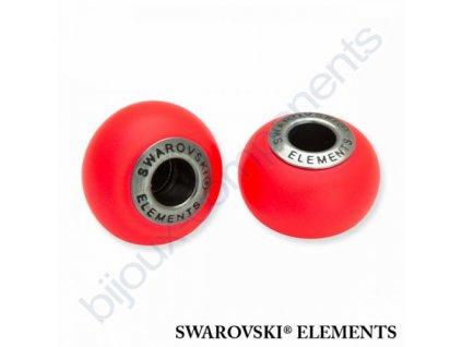 SWAROVSKI ELEMENTS BeCharmed Pearl - crystal neon red pearl steel, 14mm