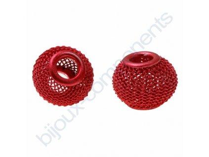 Síťovaná rondelka - červená