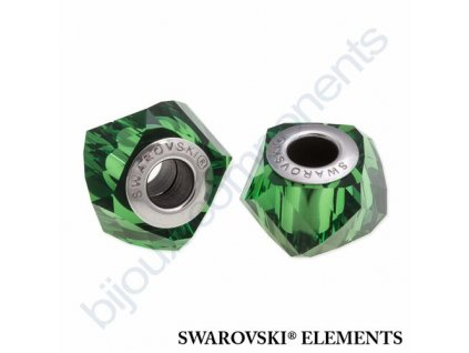 SWAROVSKI ELEMENTS BeCharmed Helix - dark moss green steel, 14mm