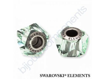 SWAROVSKI ELEMENTS BeCharmed Helix - chrysolite steel, 14mm