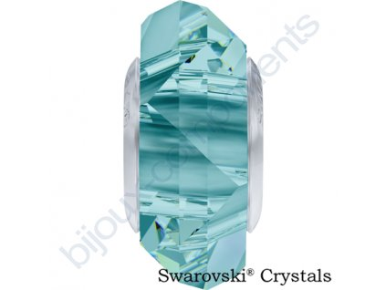 SWAROVSKI ELEMENTS BeCharmed Fortune - light turquoise steel, 14mm