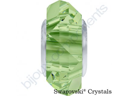 SWAROVSKI ELEMENTS BeCharmed Fortune - peridot steel, 14mm