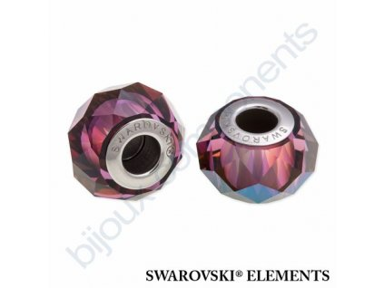 SWAROVSKI ELEMENTS BeCharmed Briolette - crystal lilac shadow steel, 14mm