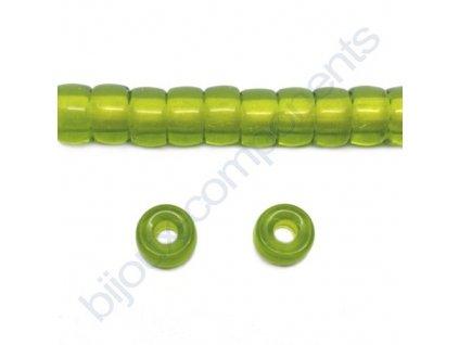 Skleněné bavoráky 9mm - olivová