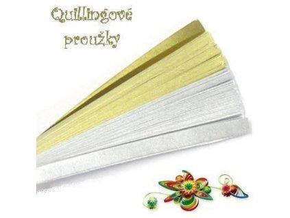 Quilling - stříbrnozlatý set
