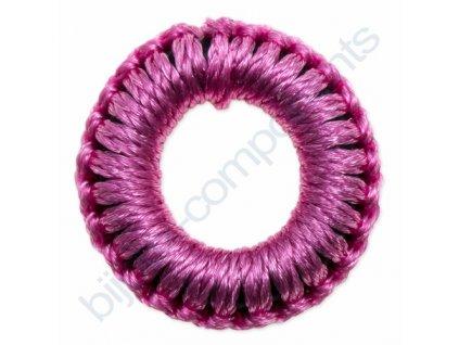 Obšívaný gumový kroužek - růžový