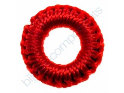 Obšívaný gumový kroužek - červený