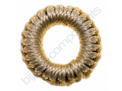 Obšívaný gumový kroužek - béžový