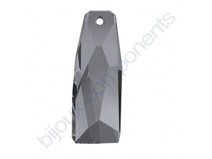 SWAROVSKI CRYSTALS přívěsek - crystalactite, crystal silvernight, 35mm