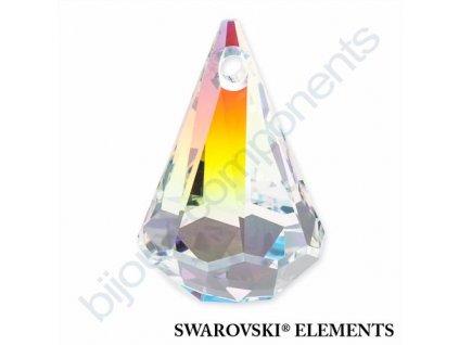 SWAROVSKI ELEMENTS přívěsek - XIRIUS dešťová kapka, crystal AB, 14mm